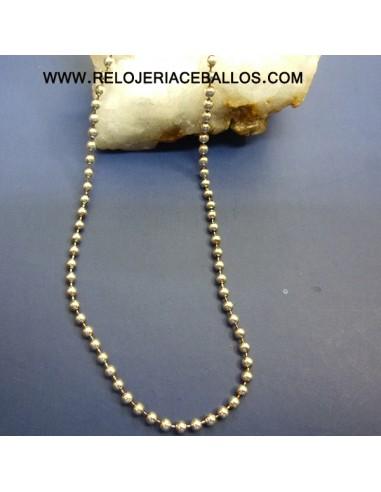 Cadena de bolitas en plata ref BD150