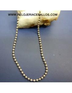 Cadena bolitas en plata ref BO150