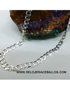 Cadena barbada de plata ref BLN60