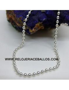 Cadena de bolas en plata ref B8250