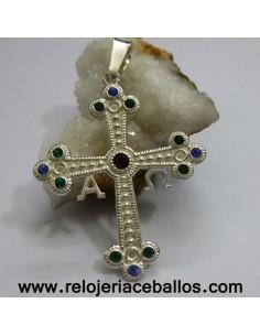 Cruz de plata con pedrería ref R579R