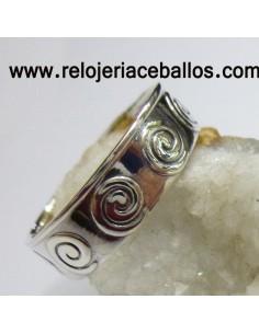 Anillo con espiral de plata 143-0006