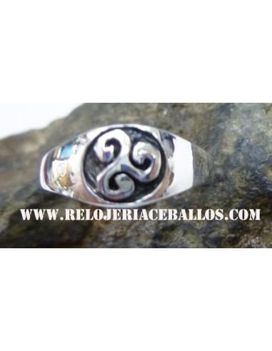 Sello con triskel de plata 146-0003