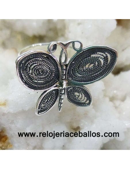 Anillo Mariposa de plata HDF
