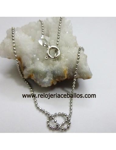 Cadena  de bolitas diamantada en plata NI40R