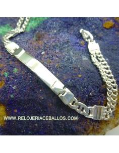 Pulsera esclava  plata 1X18B