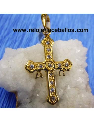 Cruz de la Victoria de plata y chapado 6122