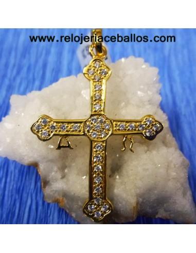 Cruz de la Victoria de plata y chapado 6552