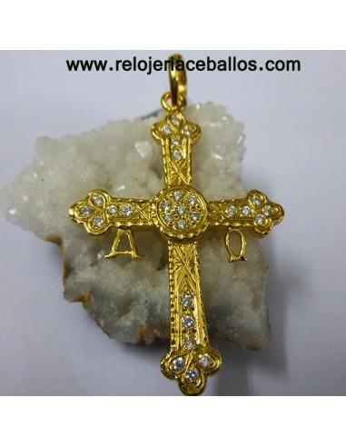 Cruz de la Victoria de plata acabado chapado 6544