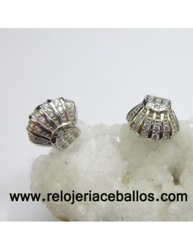 Pendiente Concha de plata 121-0118