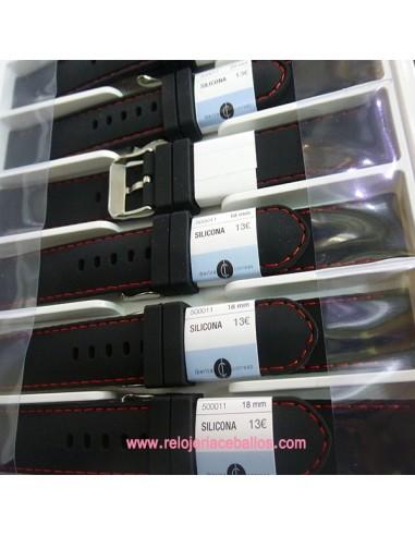 Correas para reloj de silicona 500011