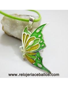 Colgante Mariposa de plata y esmalte RH181036A
