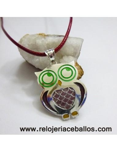 Búho de plata y esmalte RH181001