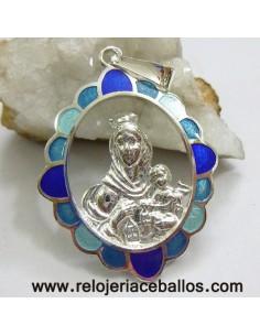 Medalla del Carmen de plata y esmalte RM150205A