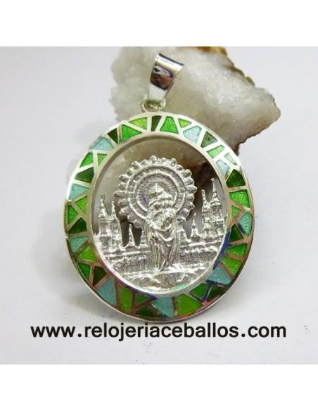 Medalla del Pilar de plata de ley y esmalte VPI11V