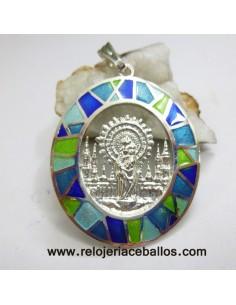 Medalla del Pilar de plata de ley y esmalte VPF13A