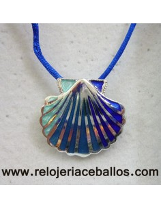 Concha de Santiago de plata con esmalte 2EF133PA