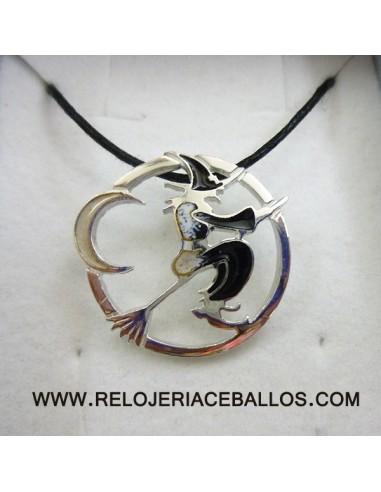 Bruja colgante de plata CEF084N