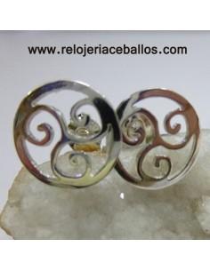 Pendientes celtas con triskel R619