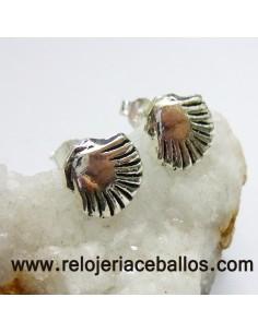 Pendientes concha de Santiago  121-0059