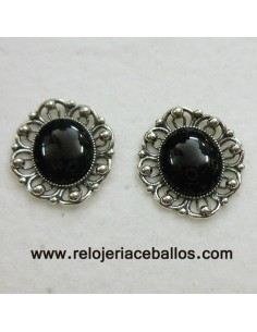Azabache pendientes de plata R469P