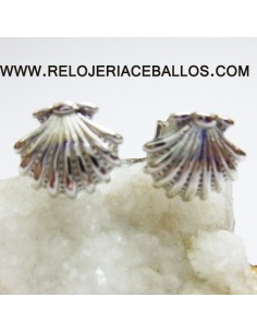 Pendientes concha de Santiago en plata pequeños 121-0159