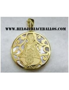 Medalla Covadonga acabado chapado 87276