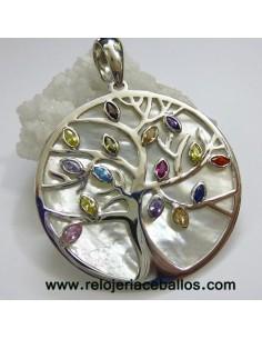 Árbol de la Vida colgante el plata con pedrería 1359122