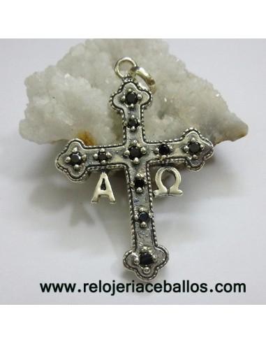 Cruz de la Victoria de Plata con Piedras 45171