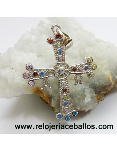 Cruz de Asturias de Plata con Pedrería 16391