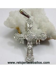 Cruz de la Victoria de plata y piedras 14492