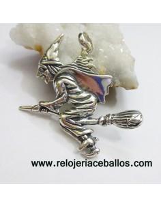 Bruja colgante de plata BR10