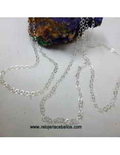 Cadena ligera de plata de 60 cm. RL306