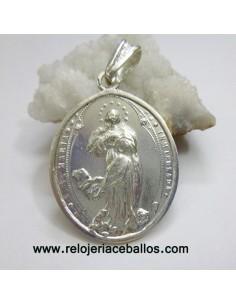 Medalla de la Inmaculada Concepción en plata INMA