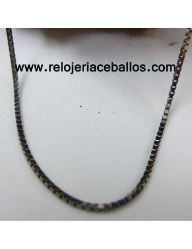 Cadena veneciana de plata negra 60CL