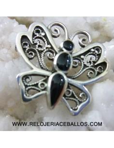 Broche mariposa en plata...