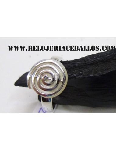Espiral, sortija de plata 126059