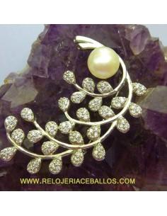 Broche Floral de plata BRP