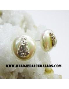 Pendientes perla con Santina