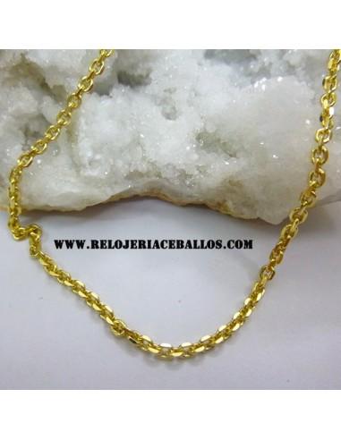 Cadena de Plata con Baño dorado FZ50