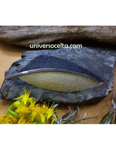 Broche Orfega Pluma Dorada 114255-6