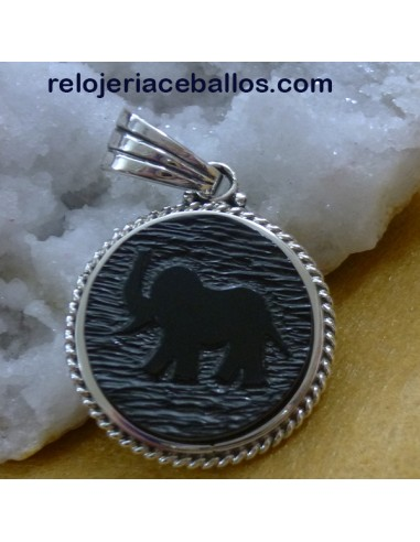 Elefante de azabache tallado 29EF