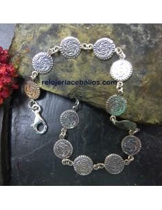 Pulsera con Estela de Lombera en plata R501