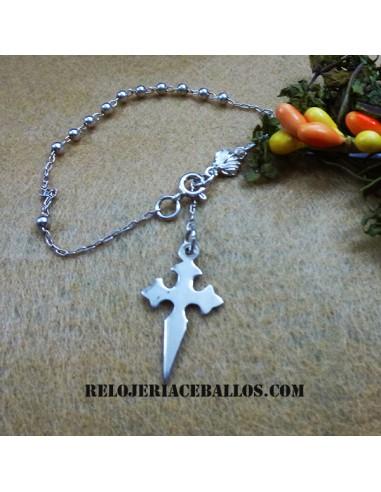 Pulsera Decenario con Cruz de Santiago 192-0001