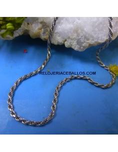 Cordón Plata Rodiado de 45 cm.
