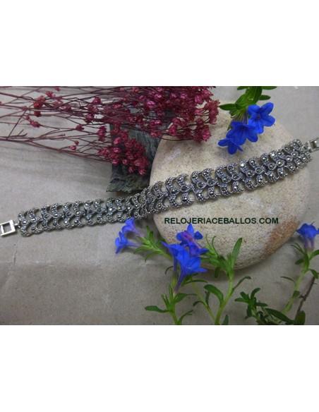 Brazalete de Plata con Marquesitas 661-0118