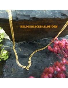 Cadena Barbada Oro de Ley 7009