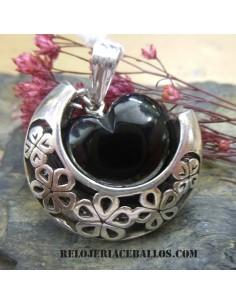 Corazón de Azabache con Luna invertida CGLI
