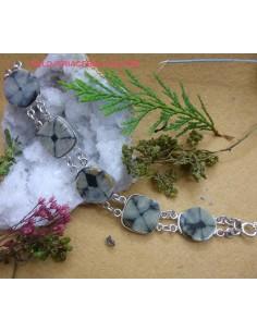 Pulsera artesanal de Plata con Quiastolitas PPQ