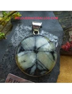 Colgante Plata con Piedra Celta CXT
